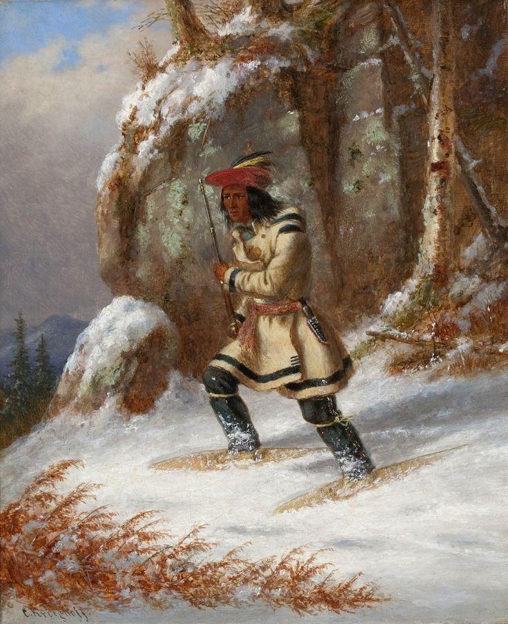 Cacciatore Indiano con Racchette da Neve IX.