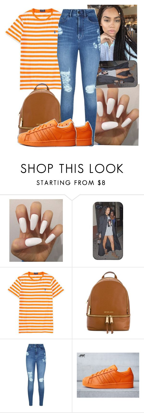 """""""Polo Contest"""" by shadea04 ❤ liked on Polyvore featuring Ralph Lauren, MICHAEL Michael Kors, Lipsy and adidas"""
