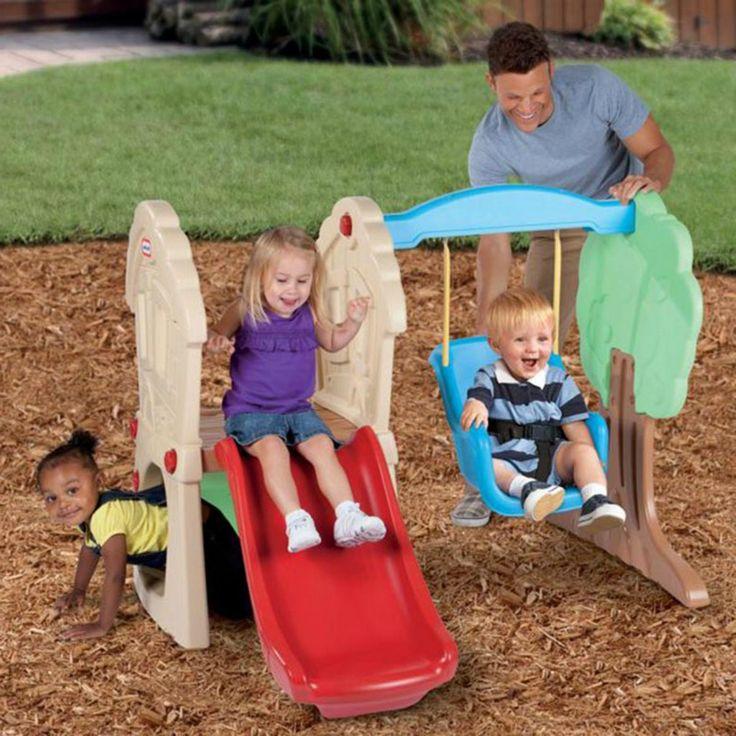 Swing Sets For Children  www.bobbiejosonestopshop.com  #BobbieJosOneStopShop #SwingSet #Toddlers #Baby #Swing #Slide #Climber #Plastic #Outdoor