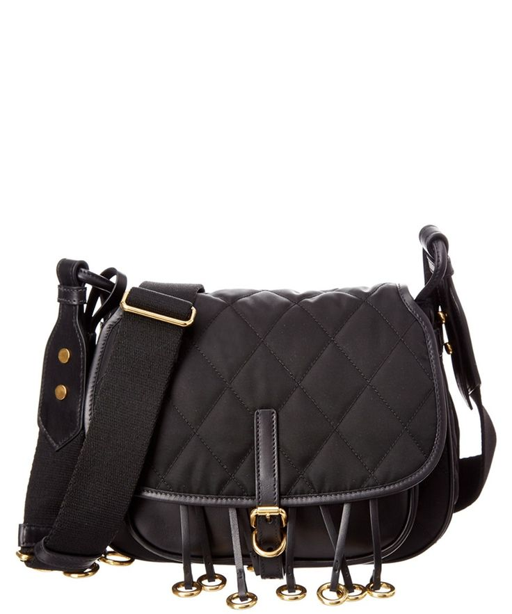 PRADA Prada Corsaire Quilted Nylon & Leather Messenger. #prada #bags #shoulder bags #leather #nylon #lining #