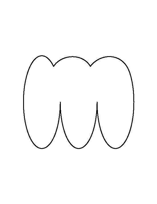 Free Printable Lowercase Bubble Letter M Pattern Cut Out The Shape And Use It For Coloring Crafts Stencils More