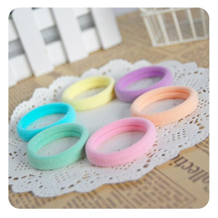24pcs/lot Mix Colors Elastic Hair Rubber Bands Rope Baby Girl Kids Ponytail Holder Hair Accessories Women Scrunchy Hair Ties Gum