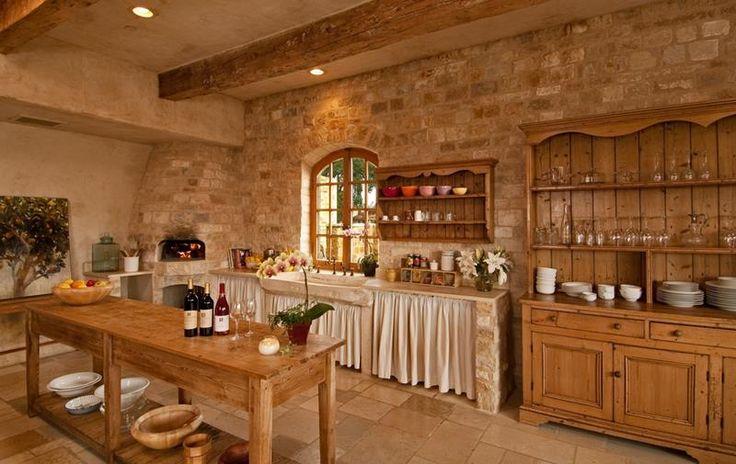 23 Brown Kitchen Designs. brown stone.