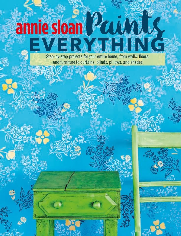 Annie Sloan Paints Everything | 40 step-by-step projects, covering everything from walls, floors, lampshades, and curtains, to footstools, cabinets and even fruit bowls. You'll find Annie Sloan painting metal, plastic, glass, burlap, linen, veneer, canvas, dust sheets, even rope! Available for ordering from your local Annie Sloan Stockist.