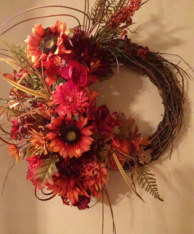 A personal favorite from my Etsy shop https://www.etsy.com/listing/484511155/elegant-fall-wreath-in-burnt-orange