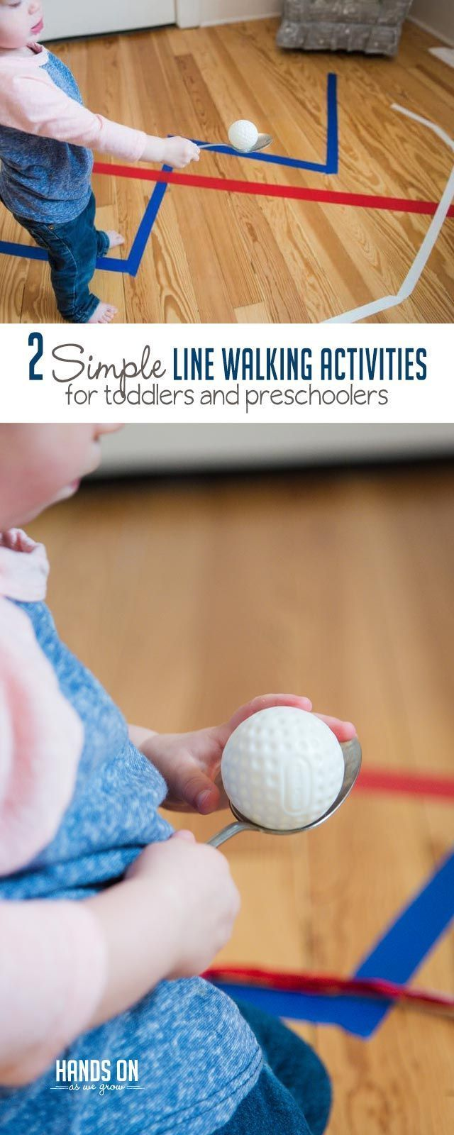 Two Simple Line Walking Activities for Toddlers & Preschoolers