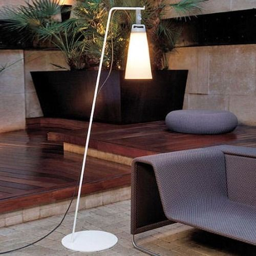 60 best modern outdoor lighting images on pinterest exterior sasha is an elegant multifunctional outdoor floor lamp of aluminum with polyethylene shade aloadofball Image collections
