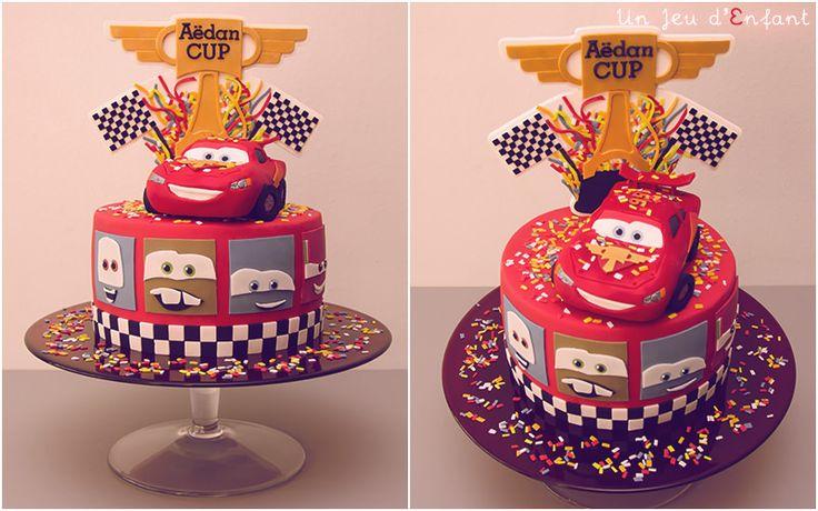 Gâteau Cars 2 - Cars Cake - Flash McQueen - Lightning MacQueen - Un Jeu d'Enfant Cake Design Nantes