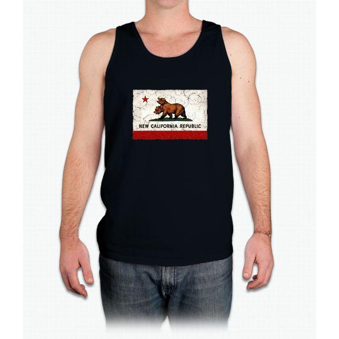 New California Republic Flag - Mens Tank Top