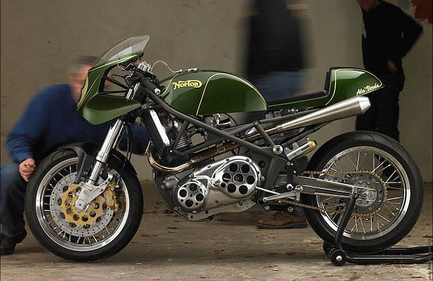 This delicately beautiful cafe racer uses a Laverda trellis frame and a late-production, modified Commando 850 engine. It was built by French violin-maker Daniel Delfour, one of a group of enthusiasts that runs a classic racing festival. The festival is at Circuit Paul Armagnac in… Read more »