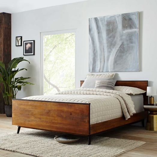 lars mid century bed contemporary bedroom furnituremidcentury