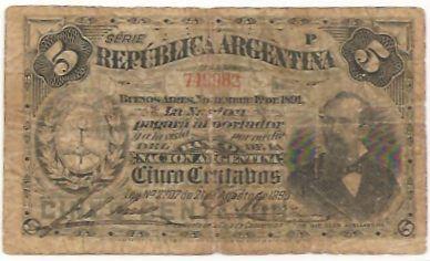 chèquier arabe   Argentinien 5 Centavos P. 209a - Euro Münzen, Banknoten, Geldscheine ...