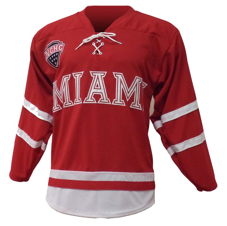 Red Miami University Hockey Jersey - Perfect for game day!