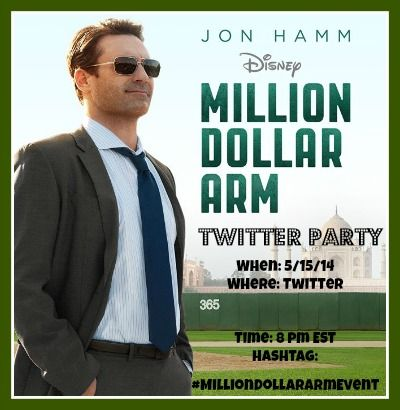Join Us for the Million Dollar Arm Twitter Party 5/15 #MillionDollarArm #MillionDollarArmEvent