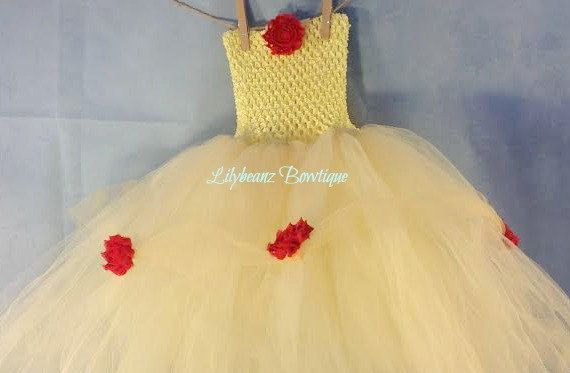 Yellow Princess Tutu Dress Baby Tutu Dress by LilybeanzBowtique