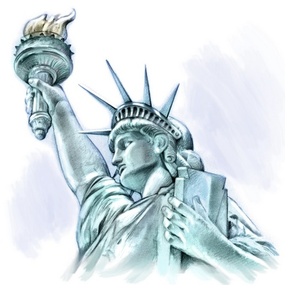 Scary Statue Of Liberty Head | Sketch of the Day: Statue of Liberty - 001