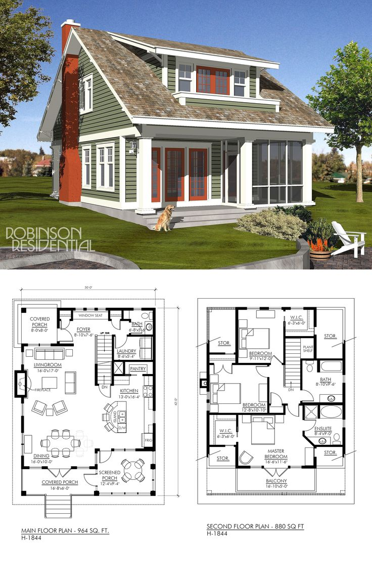 25 best ideas about small lake houses on pinterest for Free craftsman house plans