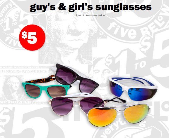 cute sunglasses from five below