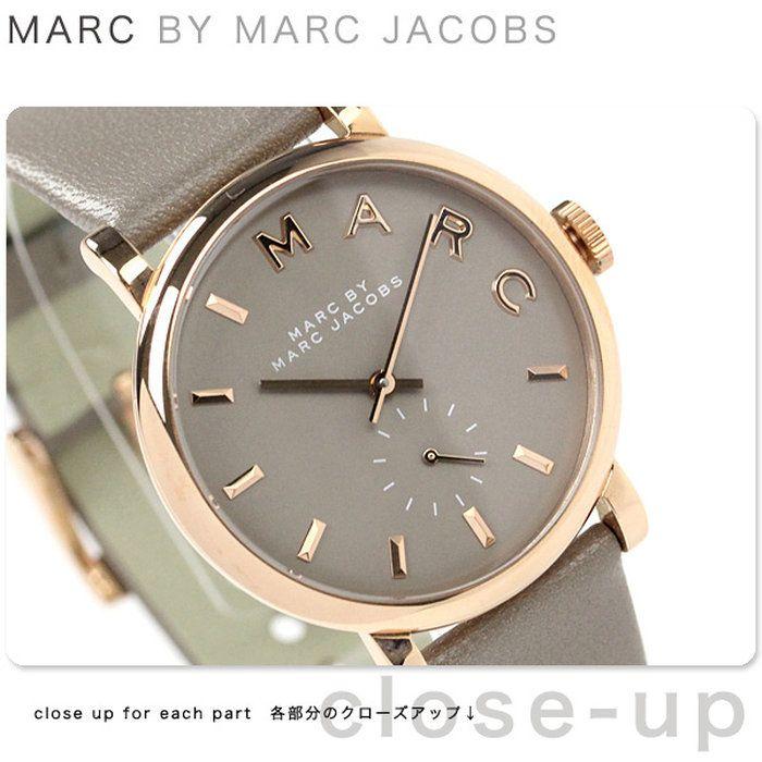 マークバイマークジェイコブスベイカー時計スモールセコンドレディースグレーレザーベルトMARCbyMARCJACOBSMBM1266
