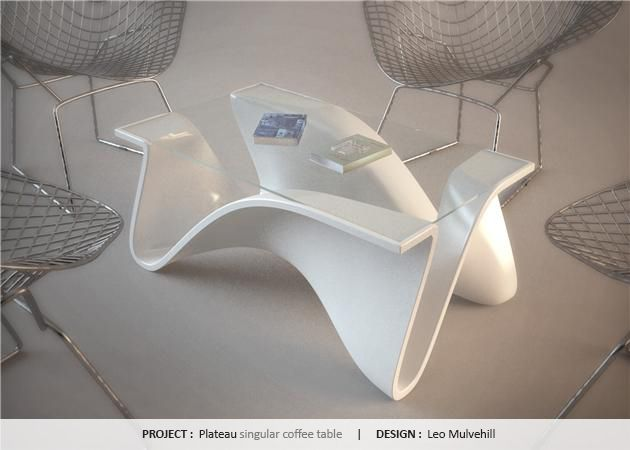Delightful Plateau, Singular Coffee Table By Leo Mulvehill #HIMACS #SolidSurface  #Contest. Dupont CorianCoffee ...
