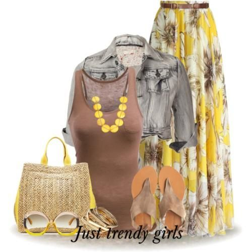 floral maxi skirt outfit, Printed maxi skirts for woman http://www.justtrendygirls.com/printed-maxi-skirts-for-woman/