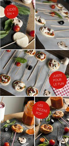 Minis Pizzas Sucettes pour L'apéro !