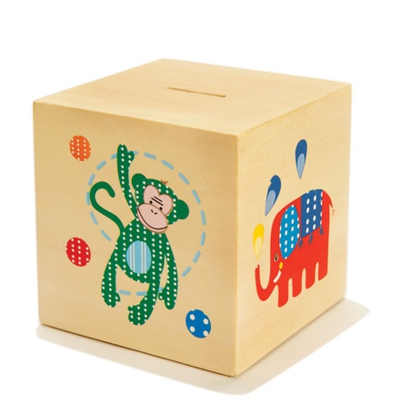 Boys Money Box  from cocooncouture.com