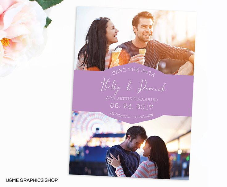 Photo Save The Date Card / U&Me Graphics