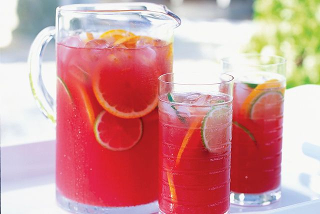 There's nothing like sangria to add a refreshing chill to summer. This fruity cranberry-citrus punch has no alcohol, so anyone can enjoy it.
