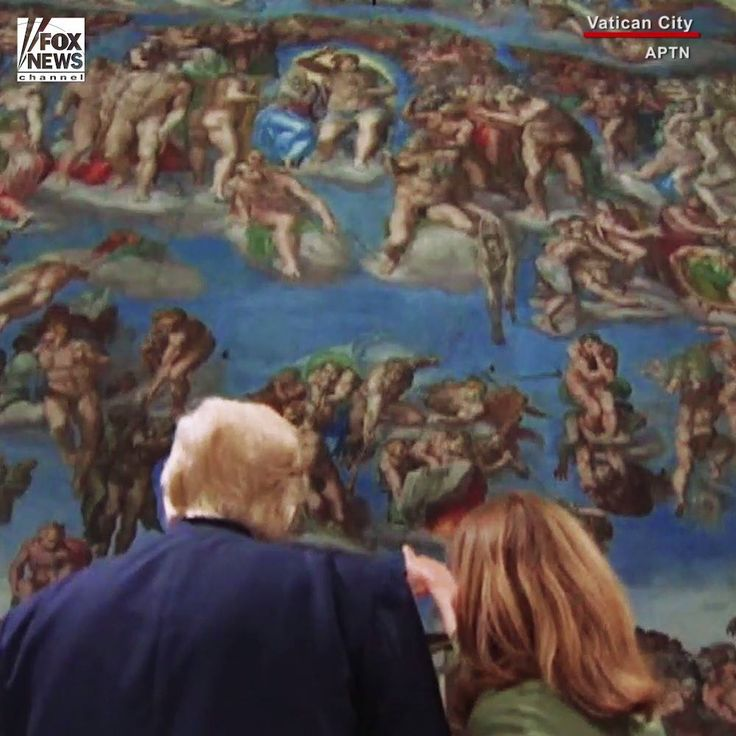 """President Donald J. Trump and Melania Trump toured the Sistine Chapel and St. Peter's Basilica on Wednesday, taking in Michelangelo's masterpiece, """"The Last Judgment,"""" behind the altar as well as the iconic """"Creation of Adam"""" on the ceiling.   Read more: http://fxn.ws/2qkydeT"""