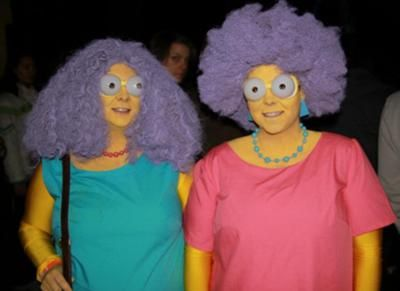 coolest simpsons patty and selma couple costume - Simpson Halloween Costume
