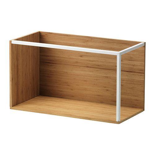 IKEA - IKEA PS 2014, Opbergmodule, bamboe/wit, , Oppervlak van bamboe, een slijtvast, vernieuwbaar en duurzaam materiaal.Creëer je eigen unieke opberg- en display-combinatie door de elementen en deksels naar eigen inzicht te combineren.