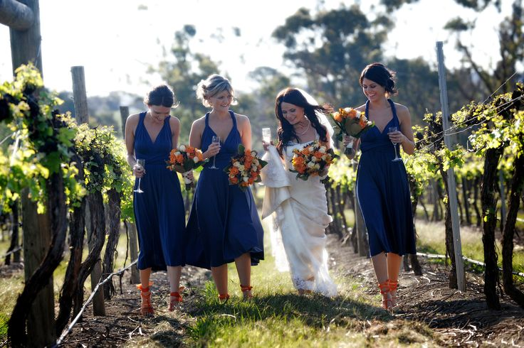 The colour and your best friends for the best spring time wedding at Immerse