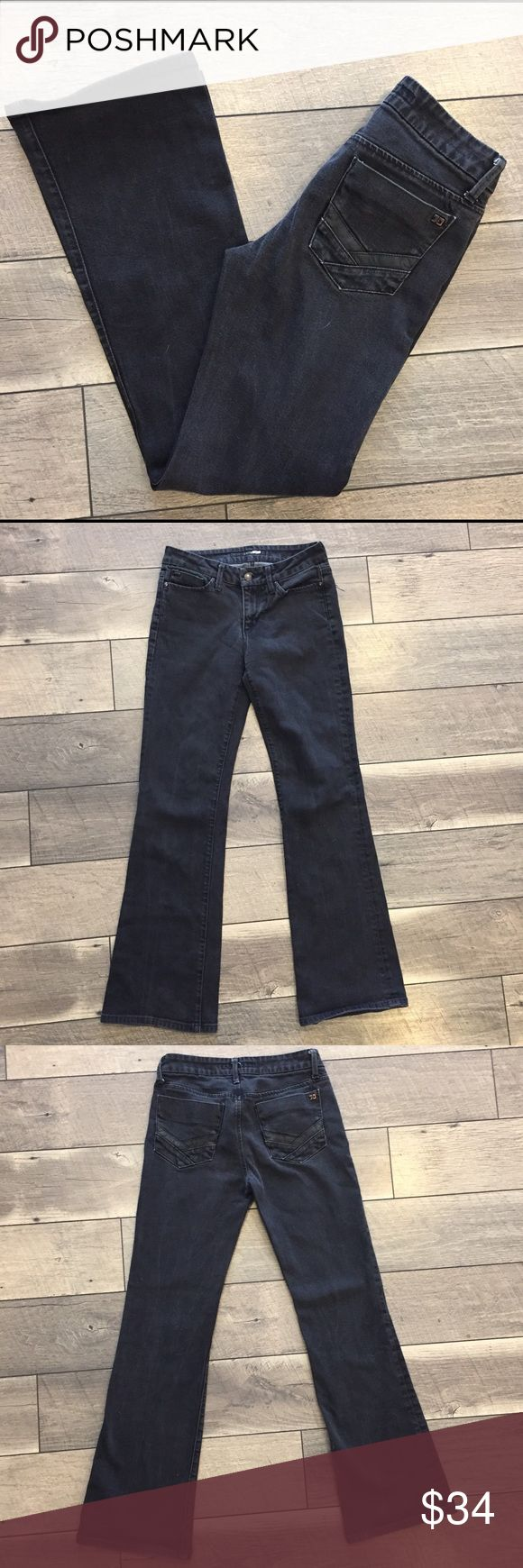 """Joe's Jeans """"The Muse"""" - Black Bootcut Jeans - 26 Black jeans are a staple in every girl's closet and this pair by Joe's Jeans will not disappoint!   Excellent used condition with some minor fading (see pics). Size 26. Fit: """"The Muse"""". These have some stretch. Inseam of 30"""". Joe's Jeans Jeans Boot Cut"""