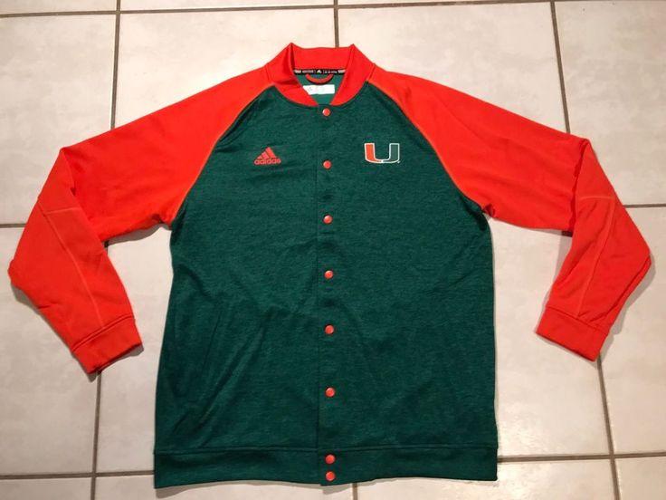 ADIDAS CLIMAWARM  Miami Hurricanes Jacket  Men's XL  | eBay