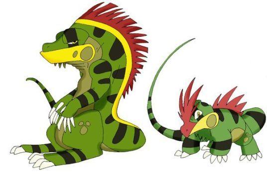 Pokemon-Fake- Iguanas by JoshuaDunlop