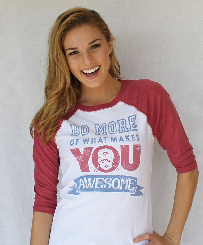 Be AWESOME! - Do More Of What Makes You Awesome #motivationalquote | Vintage baseball tee available online, sizes XS - XL Gift Idea