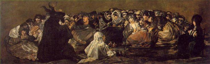 Witches 'Sabbath porción Francisco de Goya