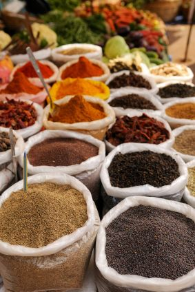 S is  for the Spice Markets in Goa, India. Many are drawn to Goa for it's beaches, places of worship and architecture, but don't forget to take a look at the aromas, colours and flavours of the spice market.. See if you can notice the Portuguese influence here.
