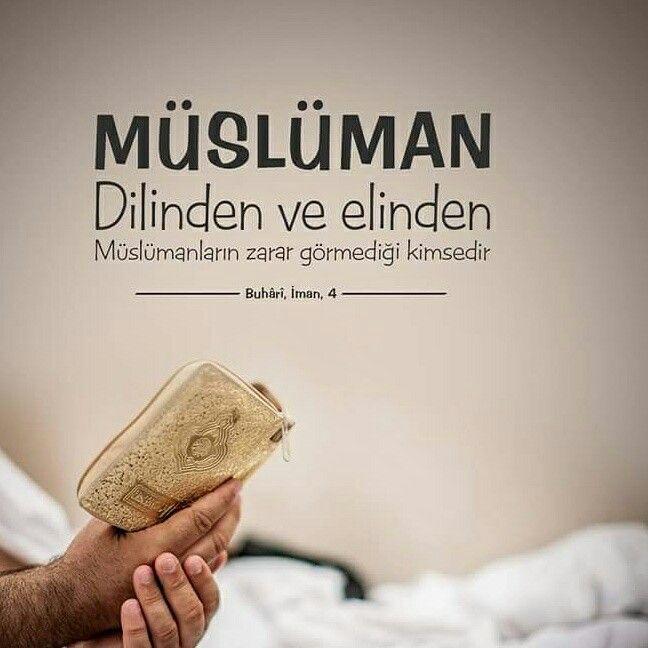 Müslüman; dilinden ve elinden Müslümanların zarar görmediği kimsedir.  [Buhari, İman, 4]  #müslüman #islam #dil #el #zarar #hadisler #türkiye #ilmisuffa