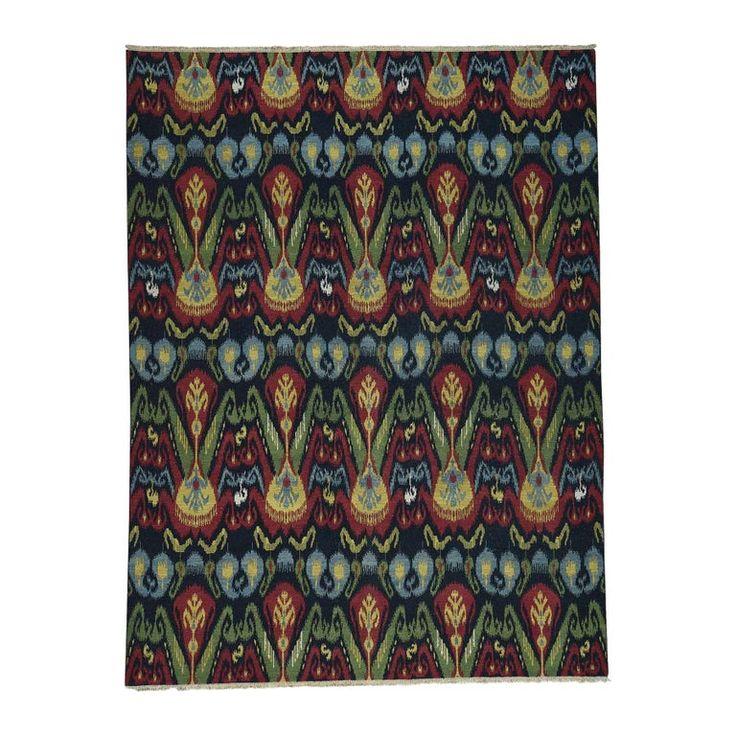 1stdibs Carpet – Ikat Soumak Double Weft Handwoven Oriental Afghan Modern Wool