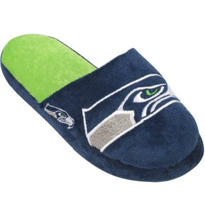 Youth Seattle Seahawks Team Logo Slide Slippers $14.95 (nflshop.com)