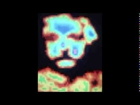 Einstein (1973)    animated art work by computer artist Herbert W. Franke - picutre processing of a portrait of Albert Einstein - stills with photographic fadings by Kodak photographic stereo projection equipment