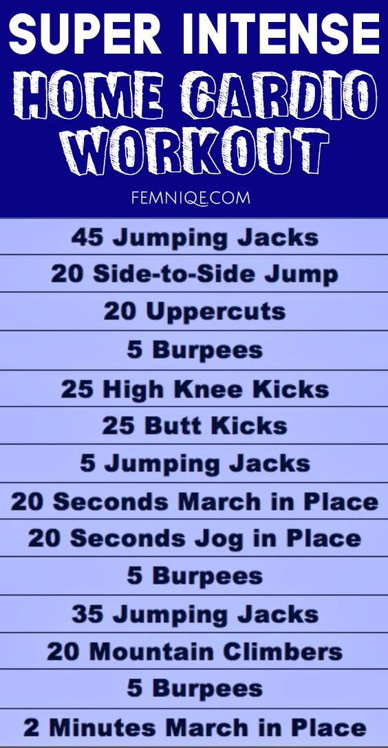 Cardio Workout At Home Plan