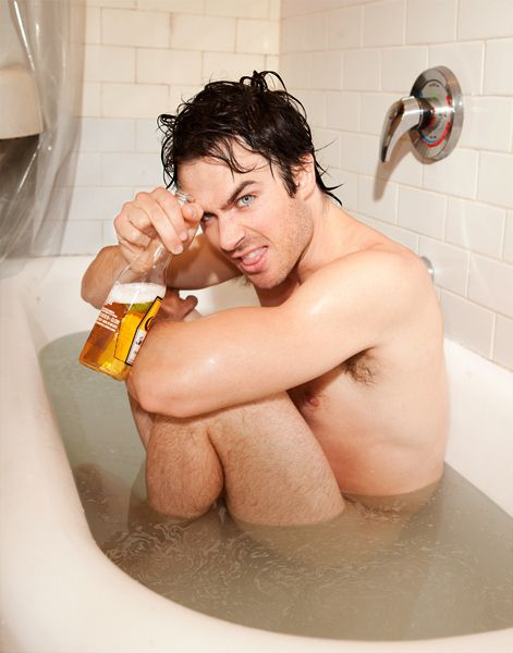 Here's A Naked Ian Somerhalder In A Bathtub