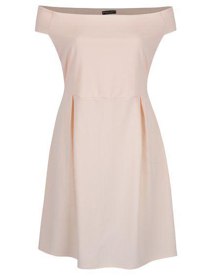 Svetloružové šaty s odhalenými ramenami Dorothy Perkins Curve