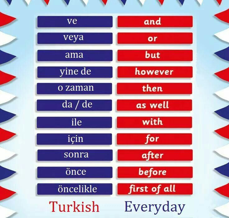 Conjunctions in Türkçe