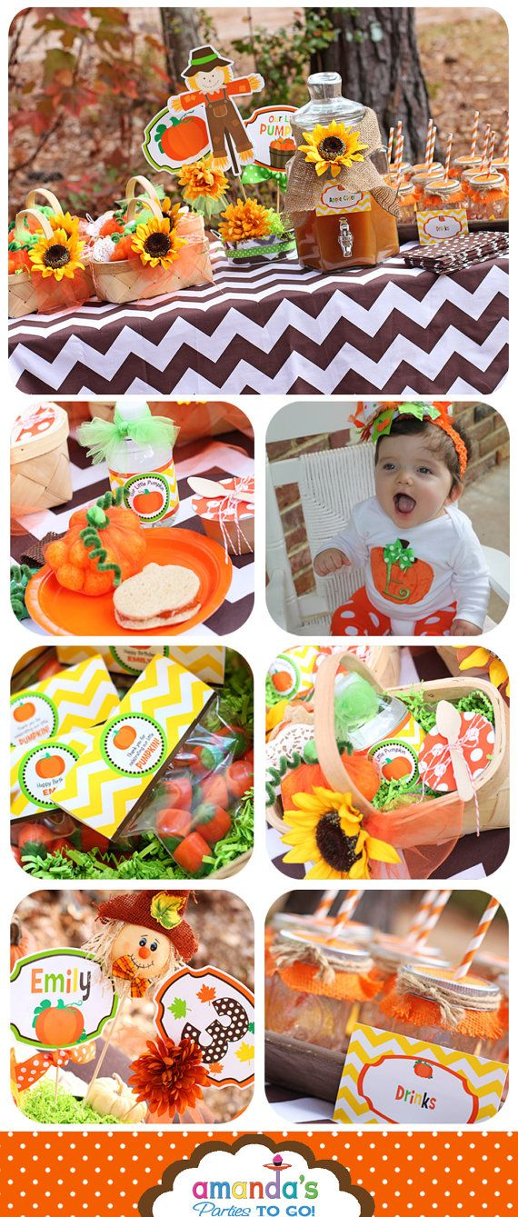 Little Pumpkin Party Printable Fall by AmandasPartiesToGo on Etsy