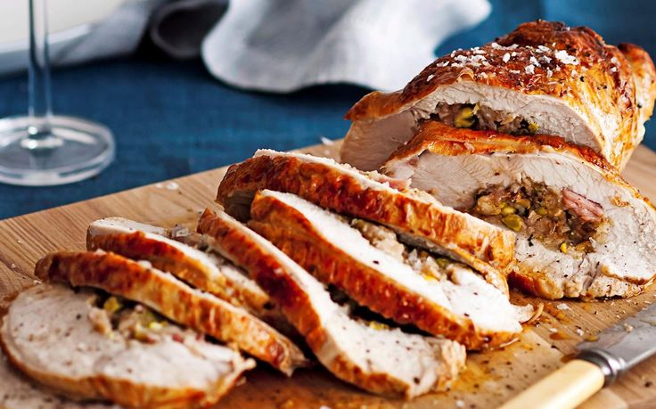 Fig and pistachio stuffed turkey breast
