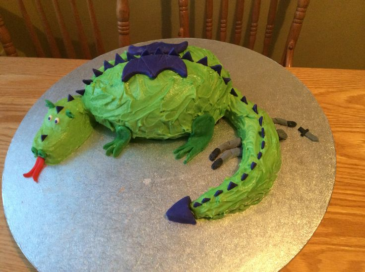 Dragon cake for a grade 5 medieval luncheon.